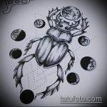 эскиз тату жук №835 - классный вариант рисунка, который удачно можно использовать для доработки и нанесения как татуировка жук в клетке