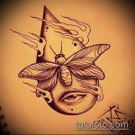 эскиз тату жук №445 - крутой вариант рисунка, который хорошо можно использовать для переделки и нанесения как татуировка жук на среднем пальце