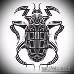 эскиз тату жук №272 - классный вариант рисунка, который хорошо можно использовать для доработки и нанесения как татуировка жук в клетке