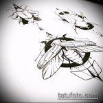 эскиз тату жук №136 - прикольный вариант рисунка, который легко можно использовать для доработки и нанесения как татуировка жук на шее