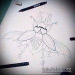 эскиз тату жук №934 - эксклюзивный вариант рисунка, который успешно можно использовать для преобразования и нанесения как татуировка жук в клетке