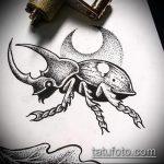 эскиз тату жук №202 - крутой вариант рисунка, который хорошо можно использовать для преобразования и нанесения как татуировка жук на зоне