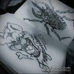 эскиз тату жук №510 - классный вариант рисунка, который легко можно использовать для переработки и нанесения как татуировка жук на среднем пальце