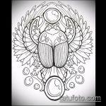 эскиз тату жук №550 - уникальный вариант рисунка, который хорошо можно использовать для преобразования и нанесения как татуировка жук на пальце