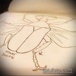 эскиз тату жук №464 - достойный вариант рисунка, который успешно можно использовать для преобразования и нанесения как татуировка жук на пальце