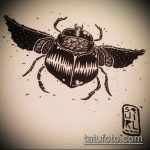 эскиз тату жук №184 - интересный вариант рисунка, который легко можно использовать для переработки и нанесения как татуировка жук на плече