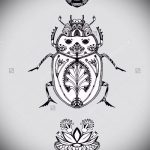 эскиз тату жук №900 - классный вариант рисунка, который хорошо можно использовать для доработки и нанесения как татуировка жук на среднем пальце
