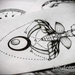 эскиз тату жук №8 - уникальный вариант рисунка, который удачно можно использовать для преобразования и нанесения как татуировка жук на пальце