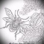 эскиз тату жук №551 - крутой вариант рисунка, который удачно можно использовать для доработки и нанесения как татуировка жук на зоне