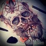 эскиз тату жук №544 - достойный вариант рисунка, который удачно можно использовать для доработки и нанесения как татуировка жук на руке
