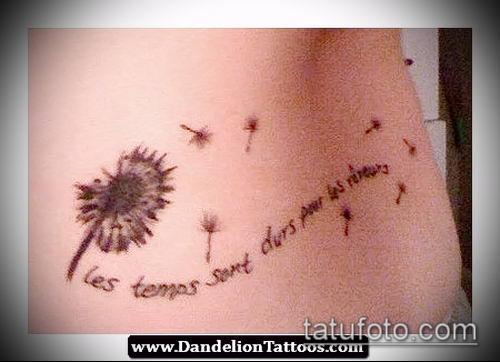 фото одуванчик с птицами (Dandelion Tatto) (значение) - пример рисунка - 037 tatufoto.com
