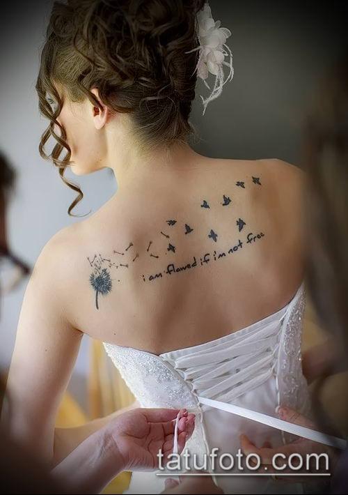 фото одуванчик с птицами (Dandelion Tatto) (значение) - пример рисунка - 045 tatufoto.com
