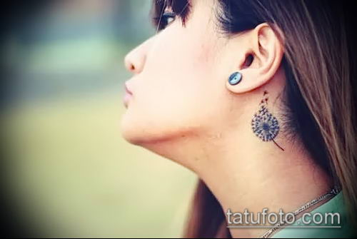 фото одуванчик с птицами (Dandelion Tatto) (значение) - пример рисунка - 069 tatufoto.com