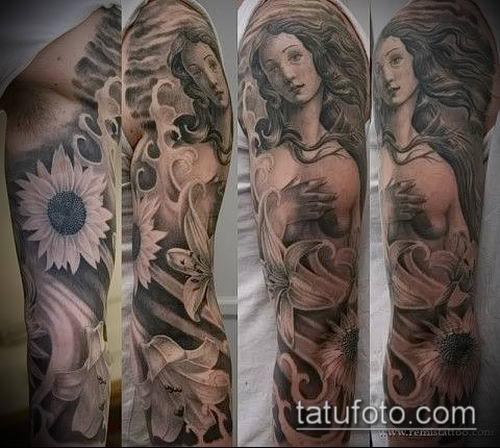 фото тату Афродита (Венера) (tattoo Venus) (значение) - пример рисунка - 001 tatufoto.com