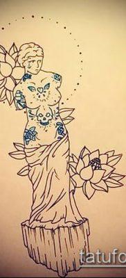 фото тату Афродита (Венера) (tattoo Venus) (значение) – пример рисунка – 019 tatufoto.com