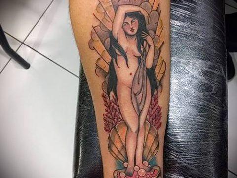 фото тату Афродита (Венера) (tattoo Venus) (значение) - пример рисунка - 026 tatufoto.com