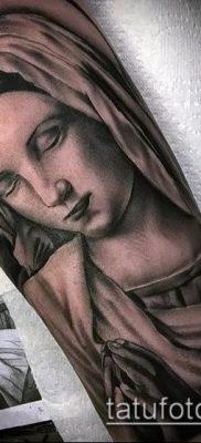 фото тату Богоматерь (значение) – пример интересного рисунка тату – 019 tatufoto.com
