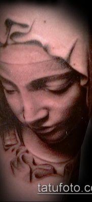 фото тату Богоматерь (значение) – пример интересного рисунка тату – 035 tatufoto.com