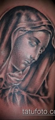 фото тату Богоматерь (значение) – пример интересного рисунка тату – 045 tatufoto.com