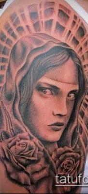 фото тату Богоматерь (значение) – пример интересного рисунка тату – 046 tatufoto.com