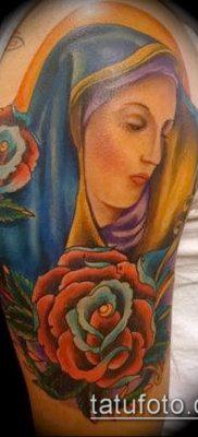 фото тату Богоматерь (значение) – пример интересного рисунка тату – 048 tatufoto.com
