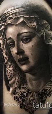 фото тату Дева Мария (значение) – пример интересного рисунка тату – 040 tatufoto.com