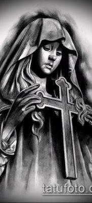 фото тату Дева Мария (значение) – пример интересного рисунка тату – 041 tatufoto.com