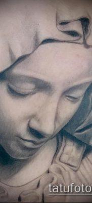 фото тату Дева Мария (значение) – пример интересного рисунка тату – 042 tatufoto.com