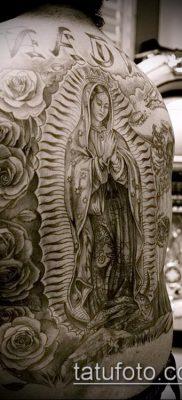фото тату Дева Мария (значение) – пример интересного рисунка тату – 044 tatufoto.com
