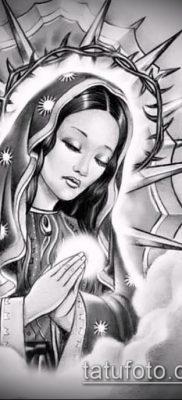 фото тату Дева Мария (значение) – пример интересного рисунка тату – 051 tatufoto.com
