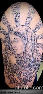 фото тату Дева Мария (значение) – пример интересного рисунка тату – 055 tatufoto.com