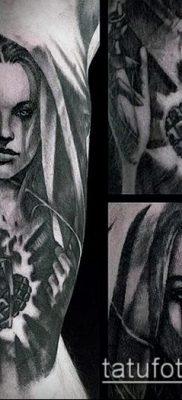 фото тату Дева Мария (значение) – пример интересного рисунка тату – 056 tatufoto.com