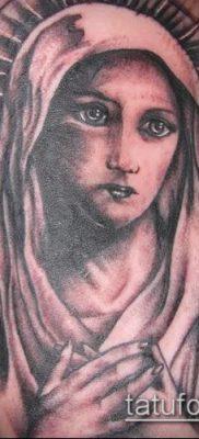 фото тату Дева Мария (значение) – пример интересного рисунка тату – 057 tatufoto.com
