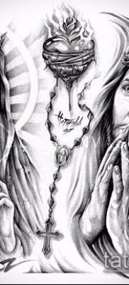 фото тату Дева Мария (значение) – пример интересного рисунка тату – 058 tatufoto.com