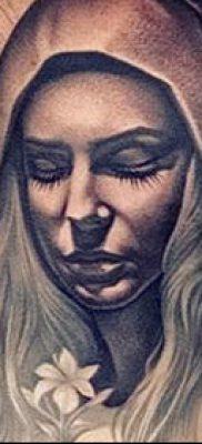 фото тату Дева Мария (значение) – пример интересного рисунка тату – 060 tatufoto.com