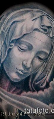 фото тату Дева Мария (значение) – пример интересного рисунка тату – 064 tatufoto.com
