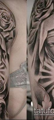 фото тату Дева Мария (значение) – пример интересного рисунка тату – 068 tatufoto.com