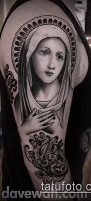 фото тату Дева Мария (значение) – пример интересного рисунка тату – 069 tatufoto.com
