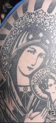 фото тату Дева Мария (значение) – пример интересного рисунка тату – 070 tatufoto.com