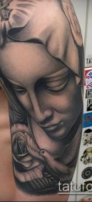 фото тату Дева Мария (значение) – пример интересного рисунка тату – 071 tatufoto.com