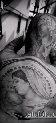фото тату Дева Мария (значение) – пример интересного рисунка тату – 075 tatufoto.com