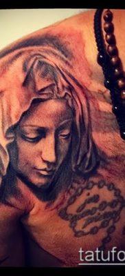 фото тату Дева Мария (значение) – пример интересного рисунка тату – 076 tatufoto.com