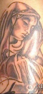 фото тату Дева Мария (значение) – пример интересного рисунка тату – 077 tatufoto.com