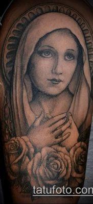 фото тату Дева Мария (значение) – пример интересного рисунка тату – 078 tatufoto.com