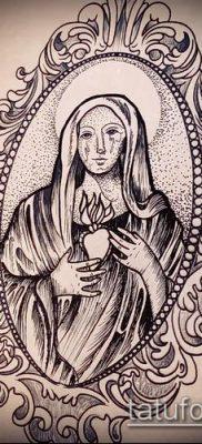 фото тату Дева Мария (значение) – пример интересного рисунка тату – 079 tatufoto.com