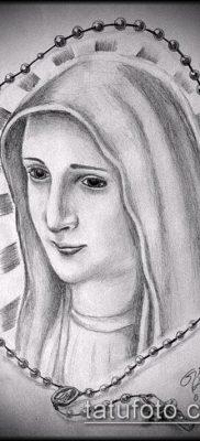 фото тату Дева Мария (значение) – пример интересного рисунка тату – 080 tatufoto.com