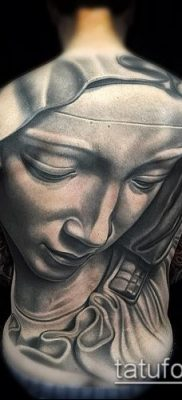 фото тату Дева Мария (значение) – пример интересного рисунка тату – 081 tatufoto.com