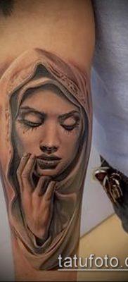 фото тату Дева Мария (значение) – пример интересного рисунка тату – 085 tatufoto.com