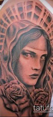 фото тату Дева Мария (значение) – пример интересного рисунка тату – 086 tatufoto.com