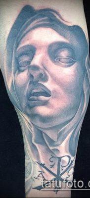 фото тату Дева Мария (значение) – пример интересного рисунка тату – 087 tatufoto.com